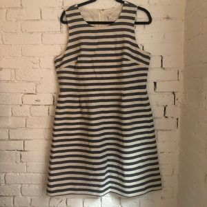 J.Crew Factory Striped Fit & Flare Dress